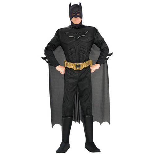 Kostüm Dark Knight Adult Batman Deluxe - PARTY DISCOUNT Herren-Kostüm Batman Deluxe, Gr. L