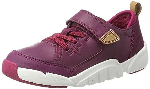Clarks Mädchen Tri Wish Jnr Sneaker, Violett (Plum Leather), 34