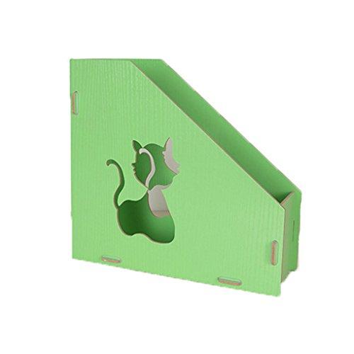 Magazin Halter Desktop, sayeec Magazin Literatur Holder Organizer Holz Dokument Stehsammler Halter Organizer Box Single grün