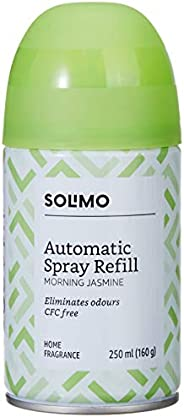 Amazon Brand - Solimo Automatic Air Freshener Refill - 250 ml (Morning Jasmine)