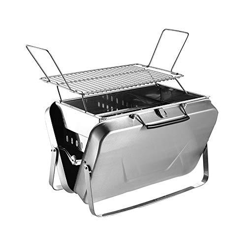 DALANG INC. Family Grill Tragbarer Faltbarer BBQ Aktentasche Campingkocher Edelstahl