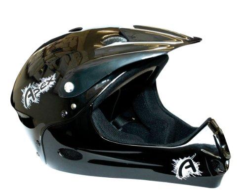 Apex Fahrradhelm, schwarz - schwarz