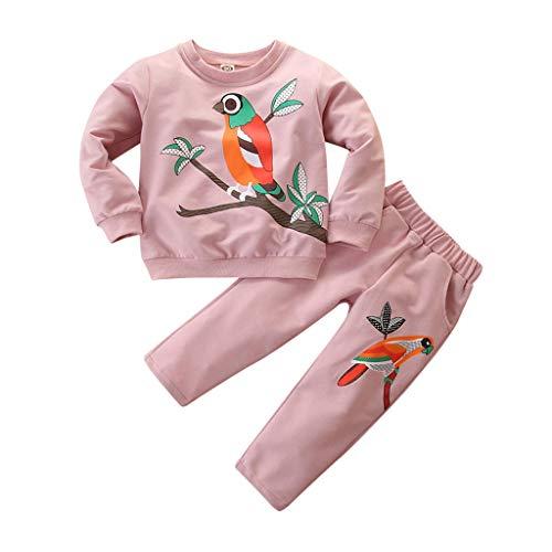 Kleinkind Baby Mädchen Cartoon T Shirt Tops + Hosen Outfits Kleidung Set