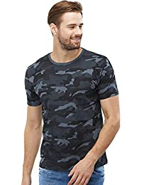 WYO Wear Your Opinion Men's Cotton Camouflage Half Sleeve T-Shirt