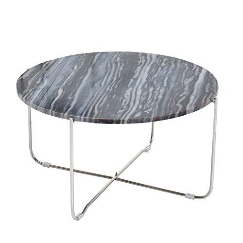 Invicta Interior Exklusiver Couchtisch Noble grau echter Marmor hochwertig verarbeitet Tisch Marmorplatte Wohnzimmertisch