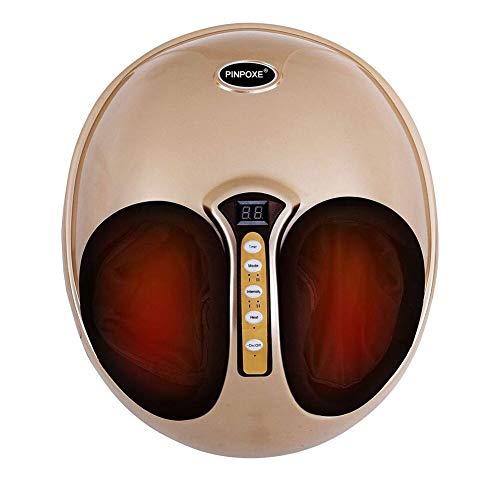 Fußmassagegerät, Fussmassage, Fussmassagegerät Arealer elektrisch, mit Luftkompression und Wärmefunktion, Shiatsu Fussmassage, Kneten Klopf Füße mit Rollen & Luftkompression für Zuhause Büro