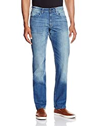 Allen Solly Mens Low Waist Slim Fit Jeans (8907308568947_ALDN515J05318_38W X 34L_Dark Blue Solid)