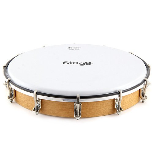 STAGG TAWH 100T 10 TUNABLE WOODEN HAND DRUM  W/ TUNING KEY & REMO HEAD