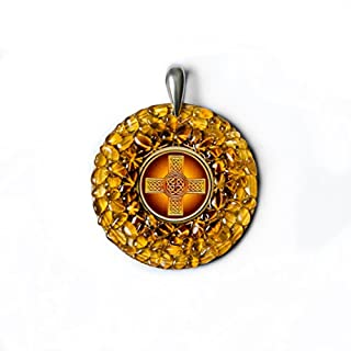 "Amber Magic quot;Celtic Cross"" Bernstein-Amulett zum Schutz"