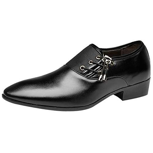 Männer/Skxinn Herrenschuhe Herren Uniform Berufsschuhe Elegant Oxfords Businessschuhe Kunstlederschuhe Party Hochzeit Schuhe Freizeitschuhe Größe 38-47 Ausverkauf(Schwarz,46 EU) ()