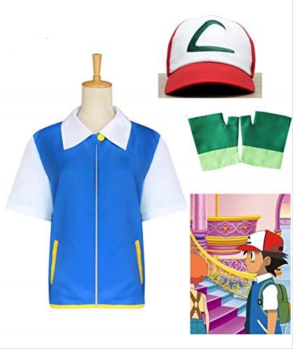 Pokemon Ash Handschuhe - OPM Cosplay Kostüm für Kinder und