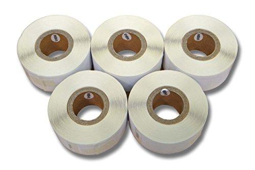 5x vhbw Etikettenband Beschriftungsband 25x54mm für Dymo Labelwriter LW450, LW450 Duo, LW450 Twin Turbo, SE300 wie 11352.