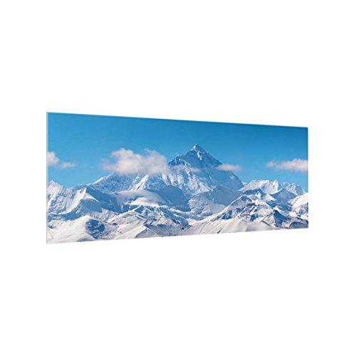 Bilderwelten Spritzschutz Glas - Mount Everest - Panorama Quer, HxB: 50cm x 125cm
