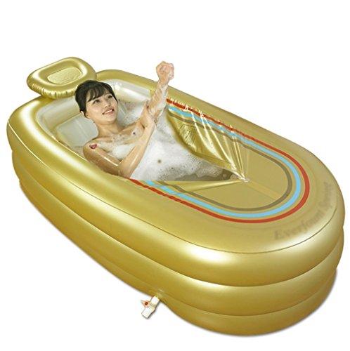 sgtrehyc Aufblasbare Badewanne Gold Adult Baden Faltbare Wanne 168 * 78 * 48 cm