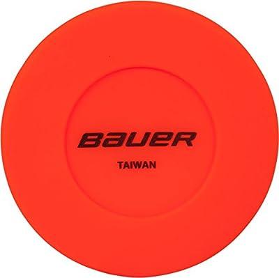 Bauer Floor Orange Carded Hockey Puck by Bauer