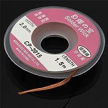 ChaRLes Effetool 5Ft/1.5 mx2mm desoldar trenzado removedor de cobre mecha hilo cable de alambre