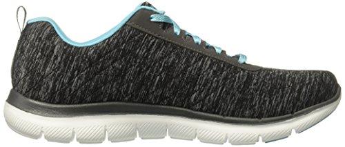 Skechers Flex Appeal 2.0 High Energy, Baskets Basses Femme Gris