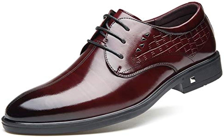 JIALUN-scarpe, Scarpe Stringate Stringate Stringate Uomo, Rosso (rosso Wine), 39.5 EU | Shop  97610c