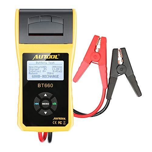 Autool BT660 12V / 24V Batterietester Analysator mit Drucker für regelmäßig überflutete CCA100-3000