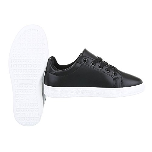 Ital-Design - Pantofole Donna Schwarz 6732-Y