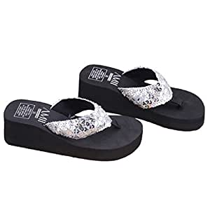 2706727ef6faf Image Unavailable. Image not available for. Colour  JAGENIE Summer Soft Women  Wedge Sandals ...