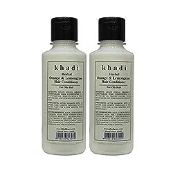 Khadi Herbal Orange & Lemongrass Hair Conditioner - 210ml (Set of 2)