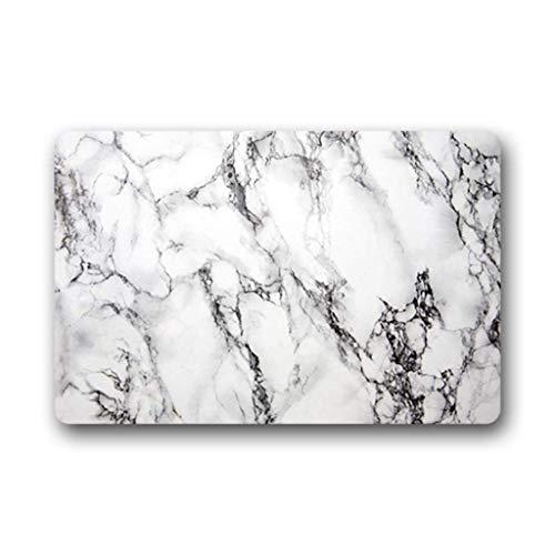 Eureya Marbre Blanc Paillasson Paillasson Intérieur/extérieur de Cuisine Rugs Tapis en Caoutchouc Home Decor 40 x 60 cm