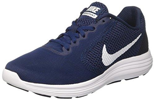 Nike 15 Männer Laufschuhe (Nike Herren Revolution 3 Laufschuhe, Blau (Midnight Navy/Obsidian/White 406), 45.5 EU)