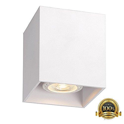 Foco LED Lámpara de techo diseño reflector para pasillo GU10CE 230V (Blanco).