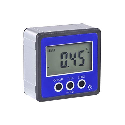 Vosarea Digital Level Box Digitalanzeige Neigungsmesser Winkelmesser für Autotests und Reparaturen Ohne Batterie 3 Schlüssel (Blau)