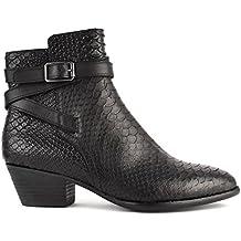 Ash Zapatos Lois Botines de Cuero Negro Mujer 36 EU Negro SAXlfRi