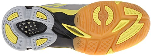 Mizuno Wave Lightning Z Large Synthétique Baskets Grey-Black-Yellow