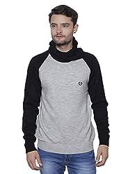 Leebonee Acrylic Mens Full Sleeve Black Sweater