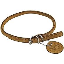 CHAPUIS SELLERIE SLA672 Collar ajustable redondo SOFT para perro y gato - Cuero marrón - Diámetro 6 mm - Largo 17-20 cm - Talla XS
