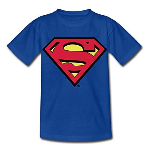 dc-comics-superman-logo-original-kinder-t-shirt-von-spreadshirtr-110-116-5-6-jahre-royalblau