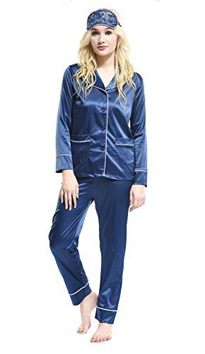 Pink -  Pigiama due pezzi  - Donna 16-81068 Blue (Seta Straight Leg Pants)