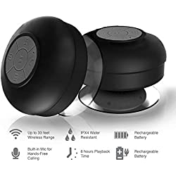 Samsung E2652W Champ Duos Compatible Mini Portable Waterproof Bluetooth Wireless Stereo Shower Speakers BTS-06 with Suction Cup for All Devices with Bluetooth Capability + Siri Compatible / with Built-in Mic Powerful Handsfree Speakerphone Best for Bath, Pool, Car, Beach, Indoor / Outdoor Use ( Multi colors ) By Mobizu.