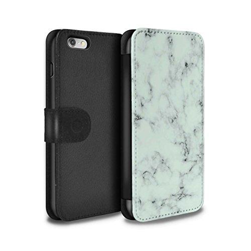 STUFF4 PU-Leder Hülle/Case/Tasche/Cover für Apple iPhone SE / Weiß Muster / Marmor Granit Bewirken Kollektion Grün