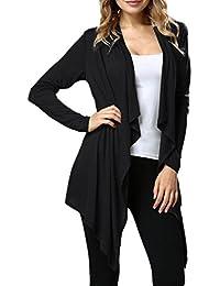 Lanmworn Femmes Ouvrir Le Devant Revers Mince Veste Cape Tricot IrréGulier  Kimono Cardigans Outwear Pull, 0849d3a65686