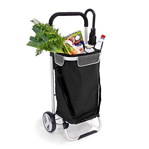 bremermann Einkaufstrolley, Handwagen, Einkaufswagen mit abnehmbarer Tasche (schwarz)