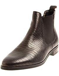 KimKay klassische Chelsea Boots Stiefelette Leder Schlangen-Look 8379