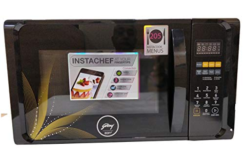 Godrej 23 L Convention Microwave Oven (GME 723CF1 PM, Golden Floral)