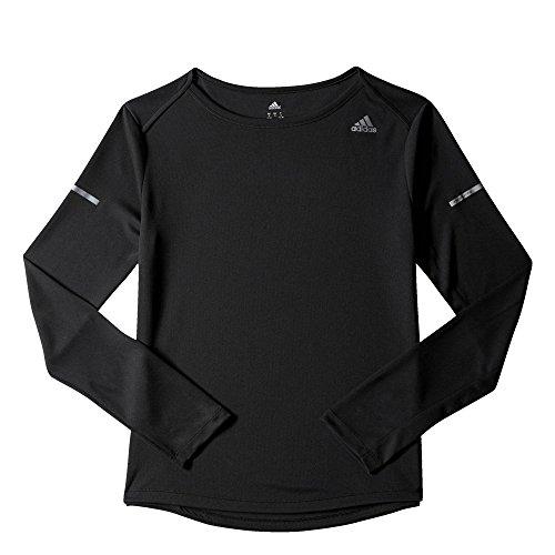 Adidas Run LS Tee W - Camiseta de manga larga para mujer, color negro, talla M