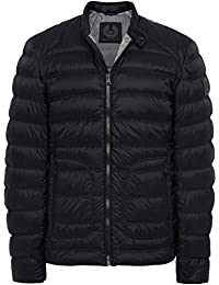 Belstaff Hombres chaqueta cazadora de halewood Negro