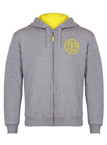 Gold's Gym Muscle Joe Kapuzenjacke mit Zippverschluss Small grau - Grau
