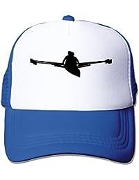 Casual adultos unisex de remo 100% nailon tapas de malla talla única ajustable Gorra Sombrero, Azul real