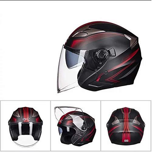 Mdsfe Casco moto uomo e donna mezzo casco casco auto elettrica doppia lente può essere installato Bluetooth fresco casco motocasco moto capitan am