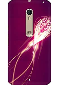 AMEZ designer printed 3d premium high quality back case cover for Motorola moto X style (abstract pink purple)