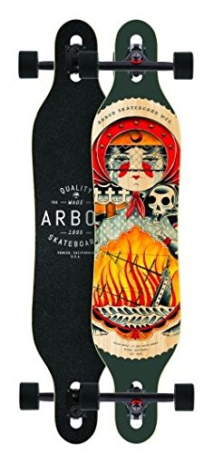 Arbor Longboard Komplettboard Axis GT 40.0 x 9.0 inch Cruiser Carver Dropthrough - Special Edition mit Koston Kugellagern - Drop Through Longboard -