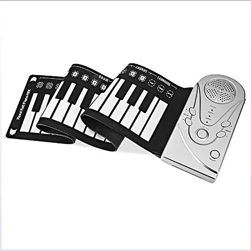 HUIJIN1 Roll-up Piano Portable 49 Schlüssel Flexible Roll Up Piano Electronic Soft Keyboard Piano Silicone Rubber Tastatur ABS Plastic (Digitale Gewichtet, Piano)